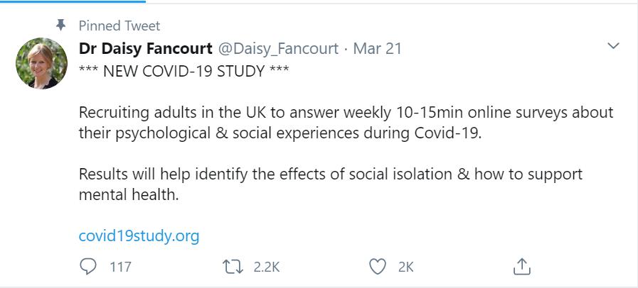Daisy Fancourt - COVID-19